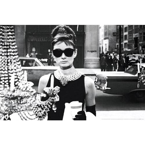 Audrey Hepburn Tiffany's Window Poster