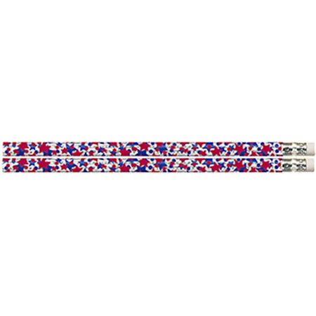 Musgrave Pencil Co Inc MUS2405D Star Sparklers Pencil 12Pk
