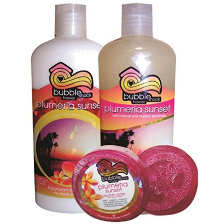 Hawaiian Bubble Shack Soap Body Wash & Lotion Gift Set - Plumeria Bubble