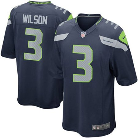 Russell Wilson  Seattle Seahawks Nike Youth Team Color Game Jersey - College Navy Wilson V-neck Jersey