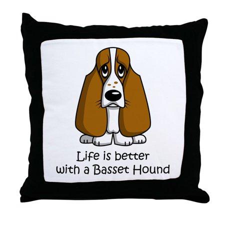 CafePress - Basset Hound - Decor Throw Pillow (18