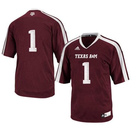 newest 9f733 79f86 Texas A&M Aggies #1 NCAA Adidas Youth Maroon Premier Football Jersey