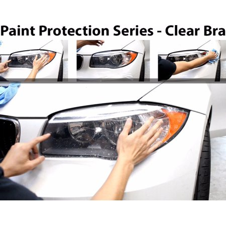 ZForce Perfect Fit Headlight PreCut Sheets Paint Protection Clear Bra Film Kit for 2017 Acura RLX