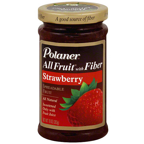Polaner Strawberry Spreadable Fruit, 10 oz (Pack of 12)