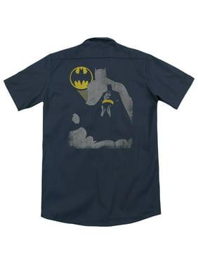 Batman Bat Knockout (Back Print) Mens Work Shirt