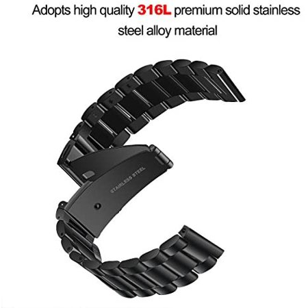 V-MORO Straps Compatible with Fitbit Versa/Versa 2 Watch Band Solid Stainless Steel Metal Business Replacement Bracelet - image 5 of 5