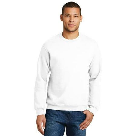 Jerzees 562M Mens Nublend Crewneck Sweatshirt  44  White   3Xl