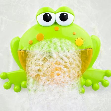 Baby Swimming Water Toys Newborn Baby Bath Bubble Machine/Big Frog Automatic With Music Wash Play Cartoon Educational Toy (Newborn Bath Toy)
