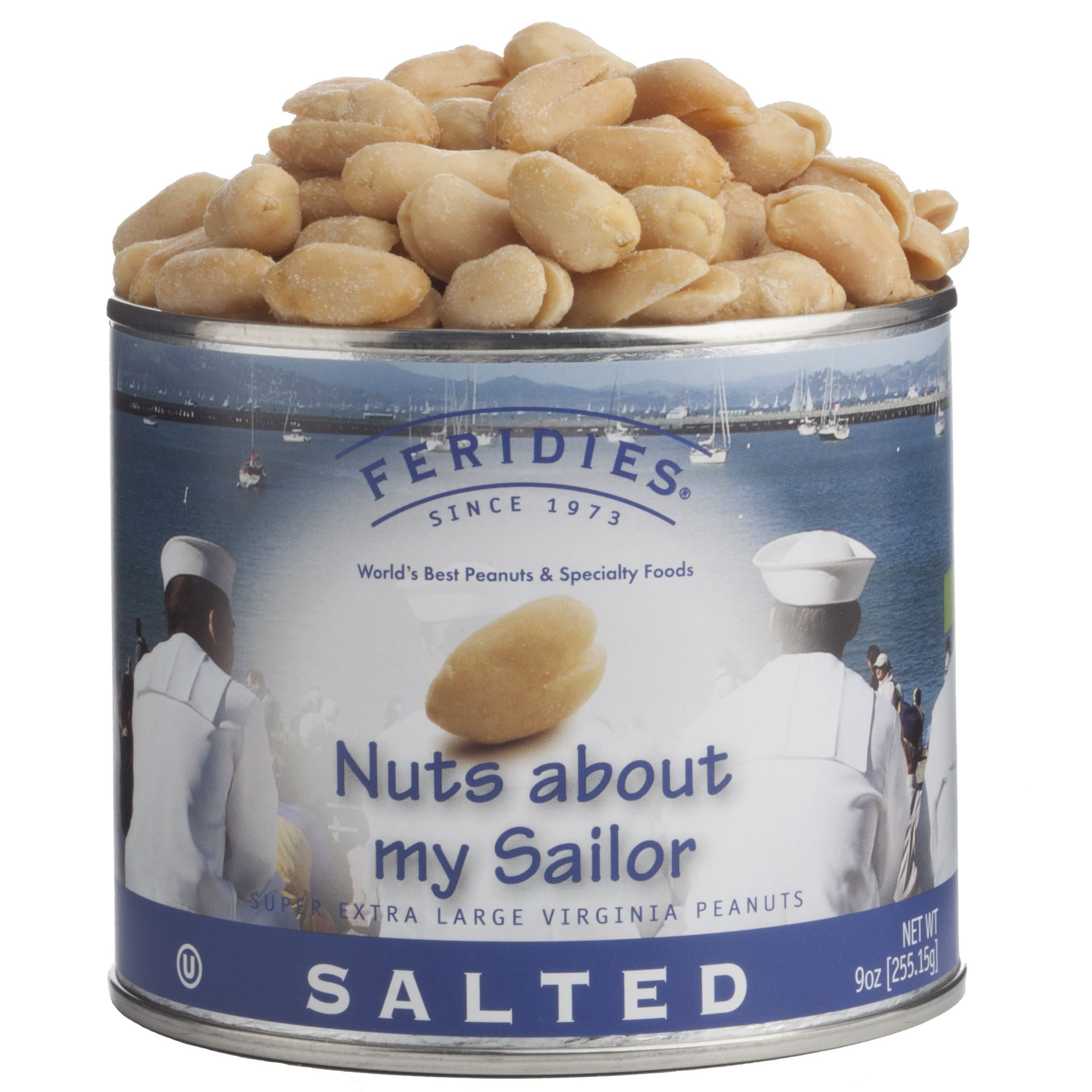Alder Creek Gift Baskets  Nuts About My Sailor Salted Peanuts 9-ounce Can