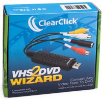 ClearClick VHS to DVD Wizard Software with USB Video Capture Device