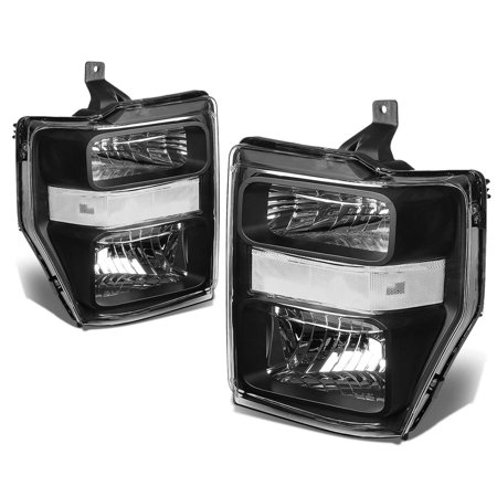 For 08-10 Ford Super Duty OE Style HeadLight Lamp Assembly (Black Housing) - 2 Gen F-250/F-350/F-450/F-550 09