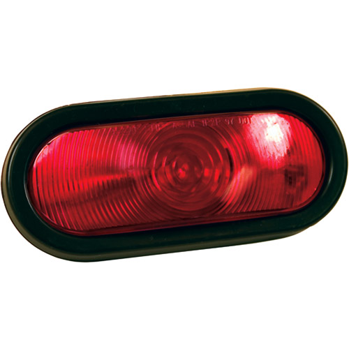 """Blazer B85RK Red 6"""" Oval Stop/Tail/Turn Light with Grommet & Plug, 1-Pack"""