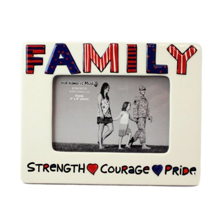 Patriotic Family Picture Frame by Our Name is Mud
