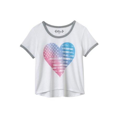 d4e599c8b Mudd - Mudd Girls Plus Size Bold Print Graphic T-Shirt - Walmart.com