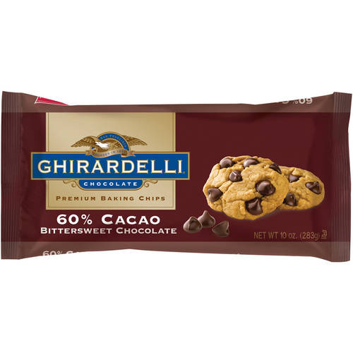 Ghirardelli Chocolate Premium Baking Chips 60% Cacao Bittersweet Chocolate, 10.0 OZ