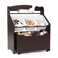 Tot Tutors 3-Tier Toddler Storage Unit with Rollout Toy Box