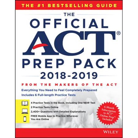 The Official ACT Prep Pack with 6 Full Practice Tests (4 in Official ACT Prep Guide + 2 Online) (Paperback)