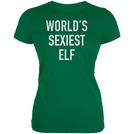 Christmas Worlds Sexiest Elf Kelly Green Juniors Soft (Top 5 Sexiest Women In The World)