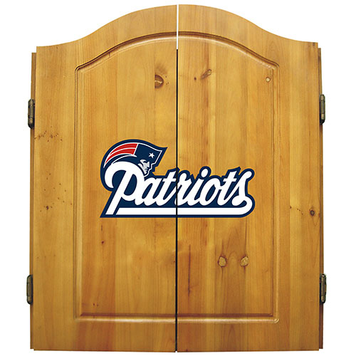 Imperial NFL New England Patriots Dart Board Cabinet Set - Classic Style