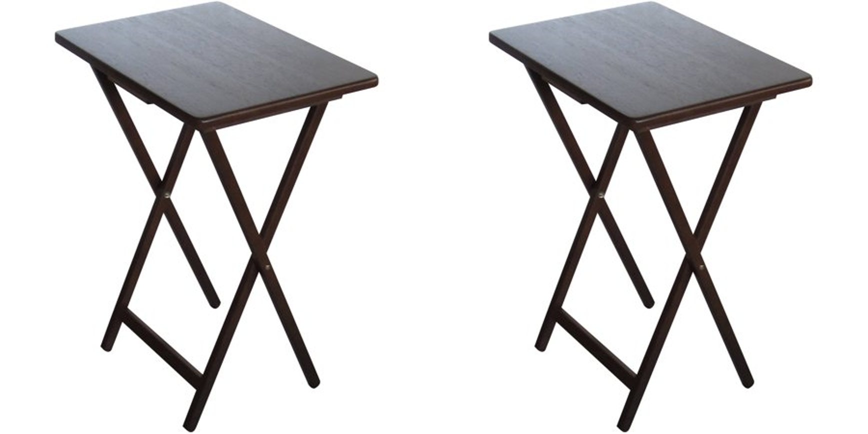 - Mainstays (2-Pack) Folding TV Tray Table Set In Walnut - Walmart