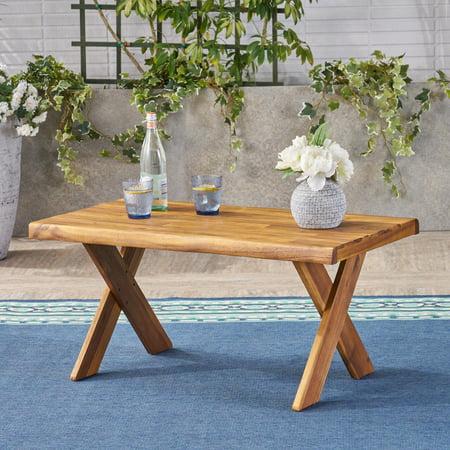 Outdoor Acacia Wood Coffee Table, Teak Teak Round Coffee Table