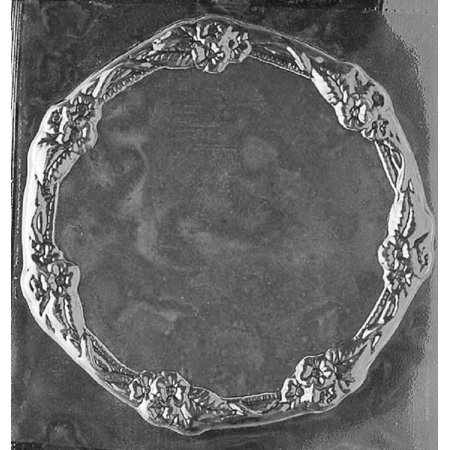 Grandmama's Goodies D306 Flower Bordered Plate Chocolate Candy Soap Mold with Exclusive Molding Instructions
