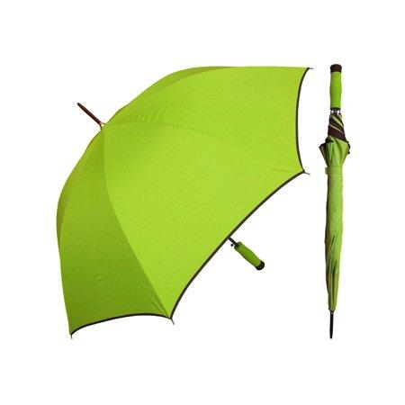 rainstoppers w071 auto open sport arc umbrella with trim, bright green/black, 46