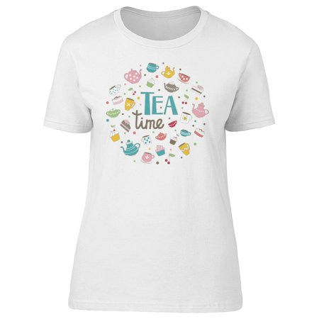 Tea Time. Cup Doodles Tee Women's -Image by