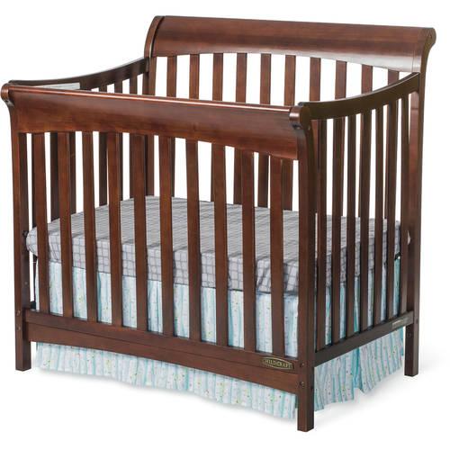 Child Craft Ashton Mini 4-in-1 Fixed-Side Convertible Crib