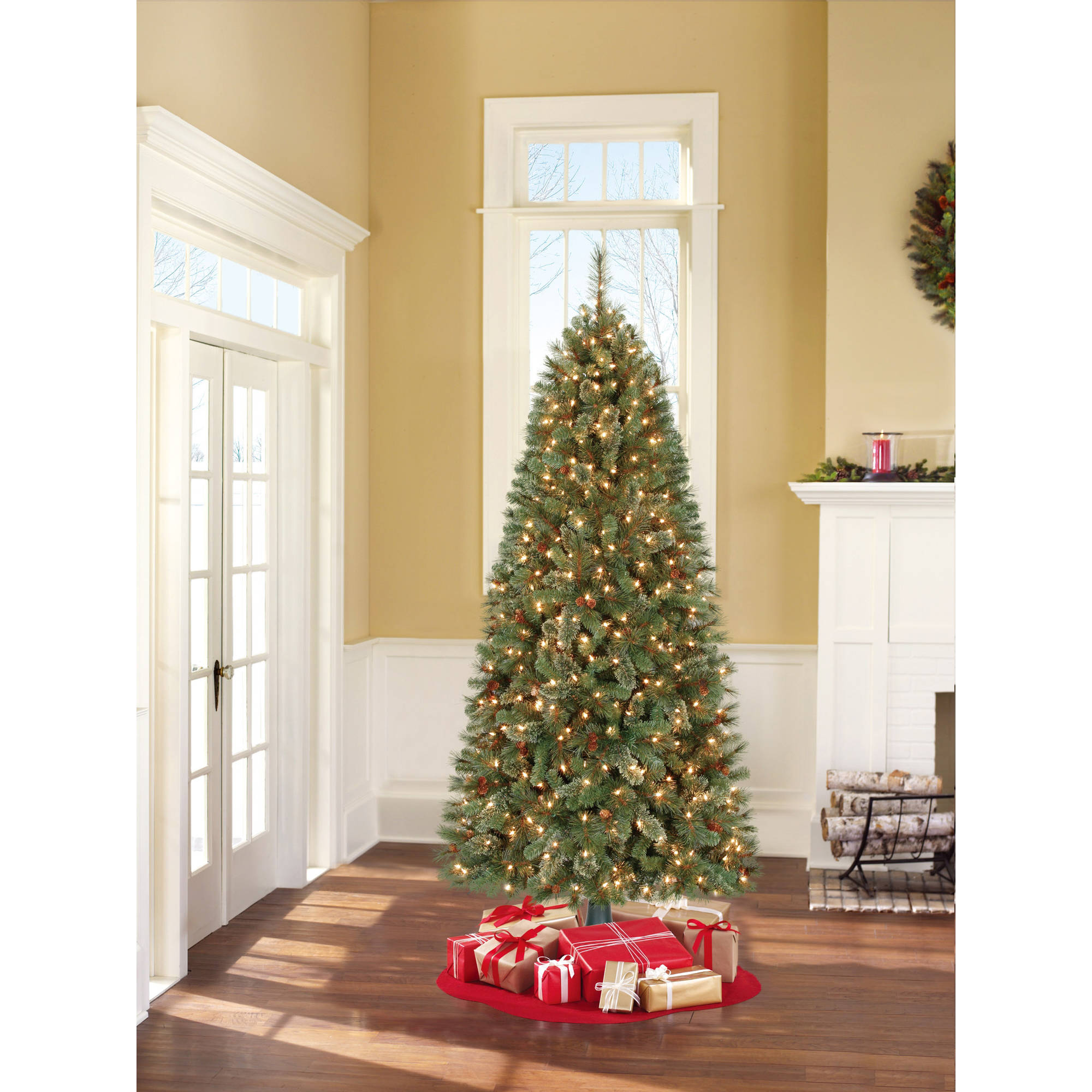 Holiday Time Pre-Lit 7' Brookfield Fir Artificial Christmas Tree ...