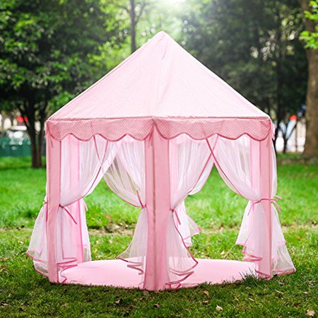 Princess Tent for Girls Indoor and Outdoor Hexagon Play Castle House - Princess Castles For Girls