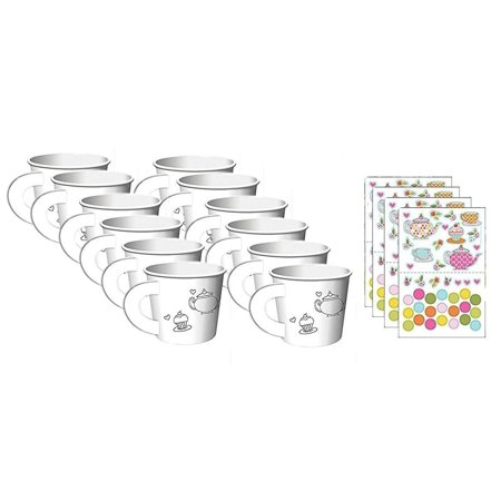 Tea Time Tea Party Decorate Your Own Favor Cups (12