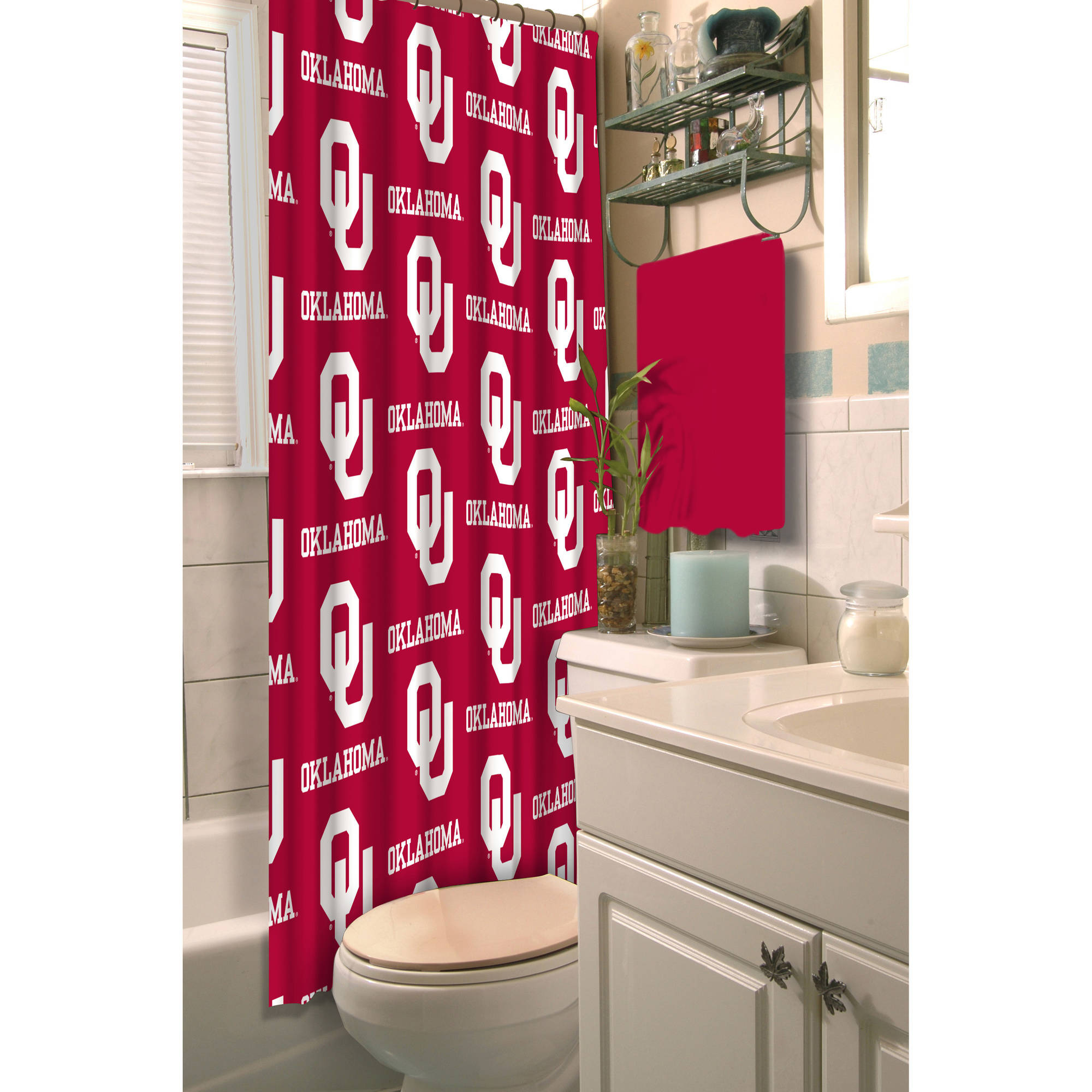 NCAA University of Oklahoma Decorative Bath Collection - Shower Curtain