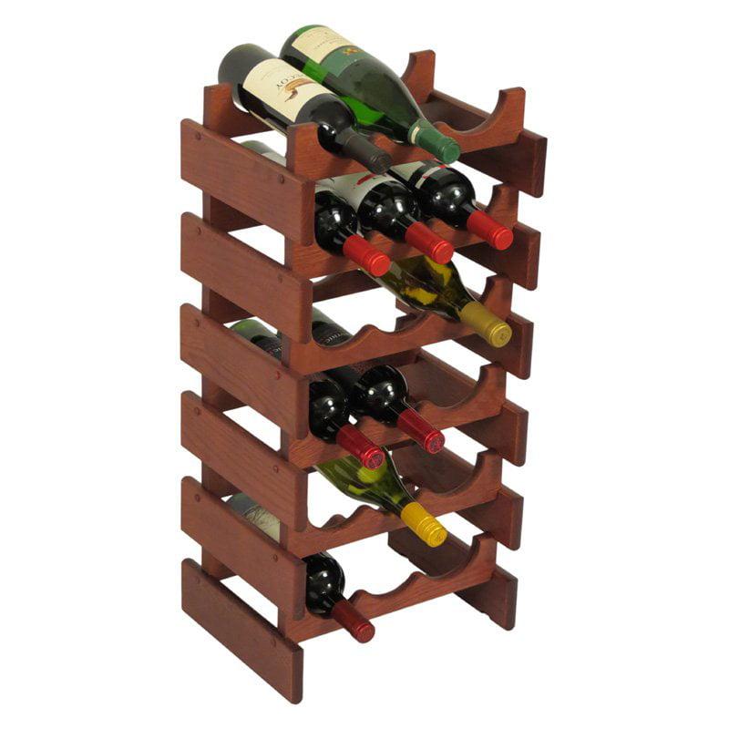 Dakota 18 Bottle Wine Rack by Wooden Mallet