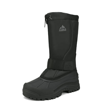 Mens Snow Boots Water-resistant Insulated Fur Liner Winter Hiking Boots NORTIV 8 QUEBEC-M BLACK Size 9