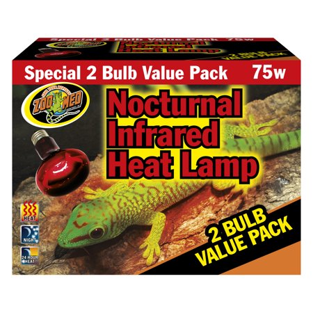 Zoo Med Nocturnal Infrared Heat Lamp - 2 Pack (75