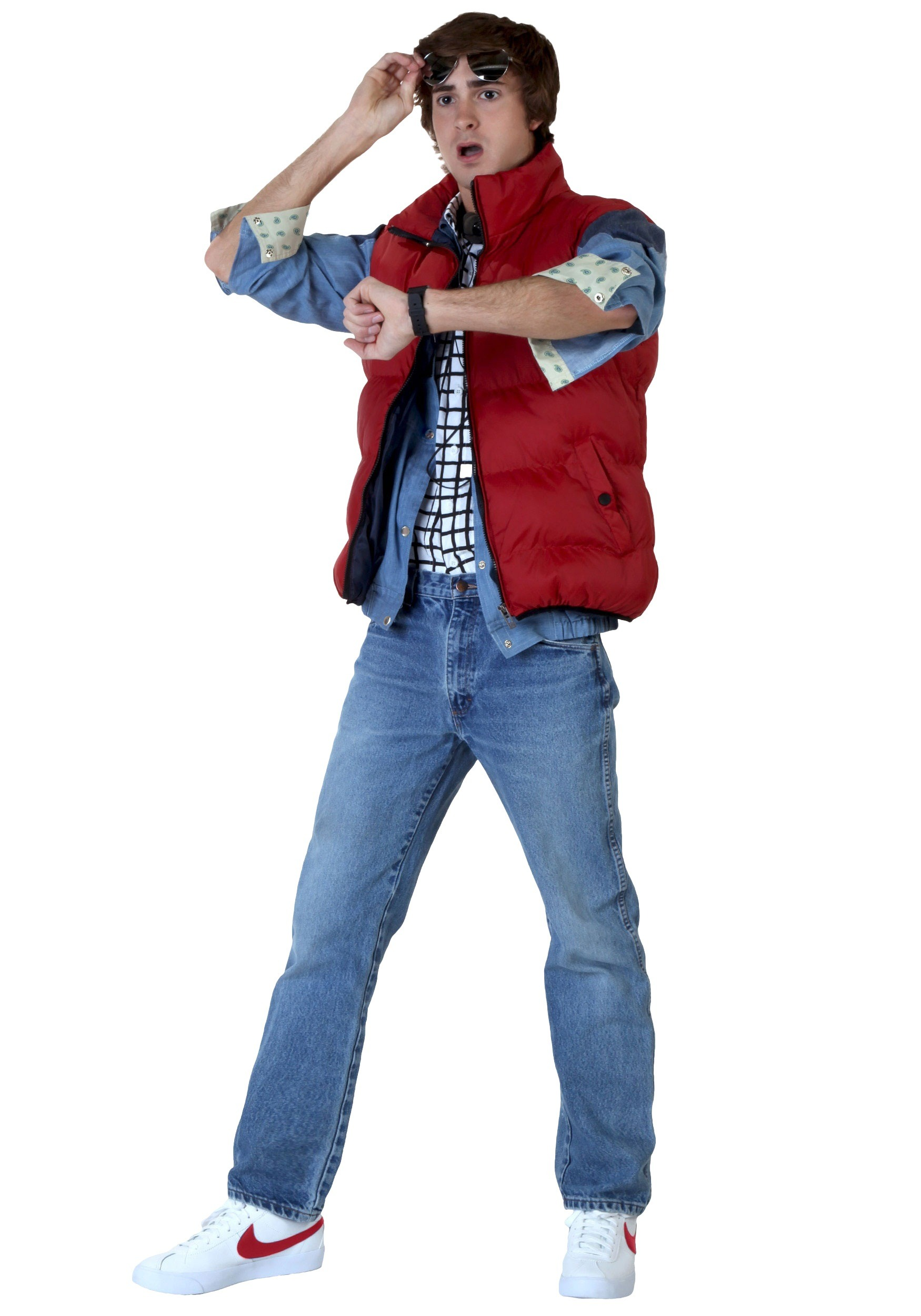 sc 1 st  Walmart & Marty McFly Menu0027s Costume Package from Back to the Future - Walmart.com