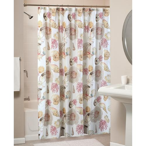 Greenland Home Fashions Castaway Multi Shells Shower Curtain