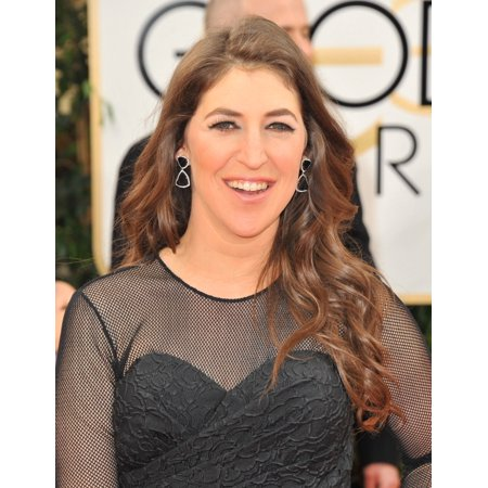 Mayim Bialik At Arrivals For 71St Golden Globes Awards   Arrivals 2 The Beverly Hilton Hotel Beverly Hills Ca January 12 2014 Photo By Linda Wheelereverett Collection Photo Print