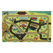 Mohawk Home Loop Print Base Central Station Play Indoor Area Rug - 5L x 8W ft.