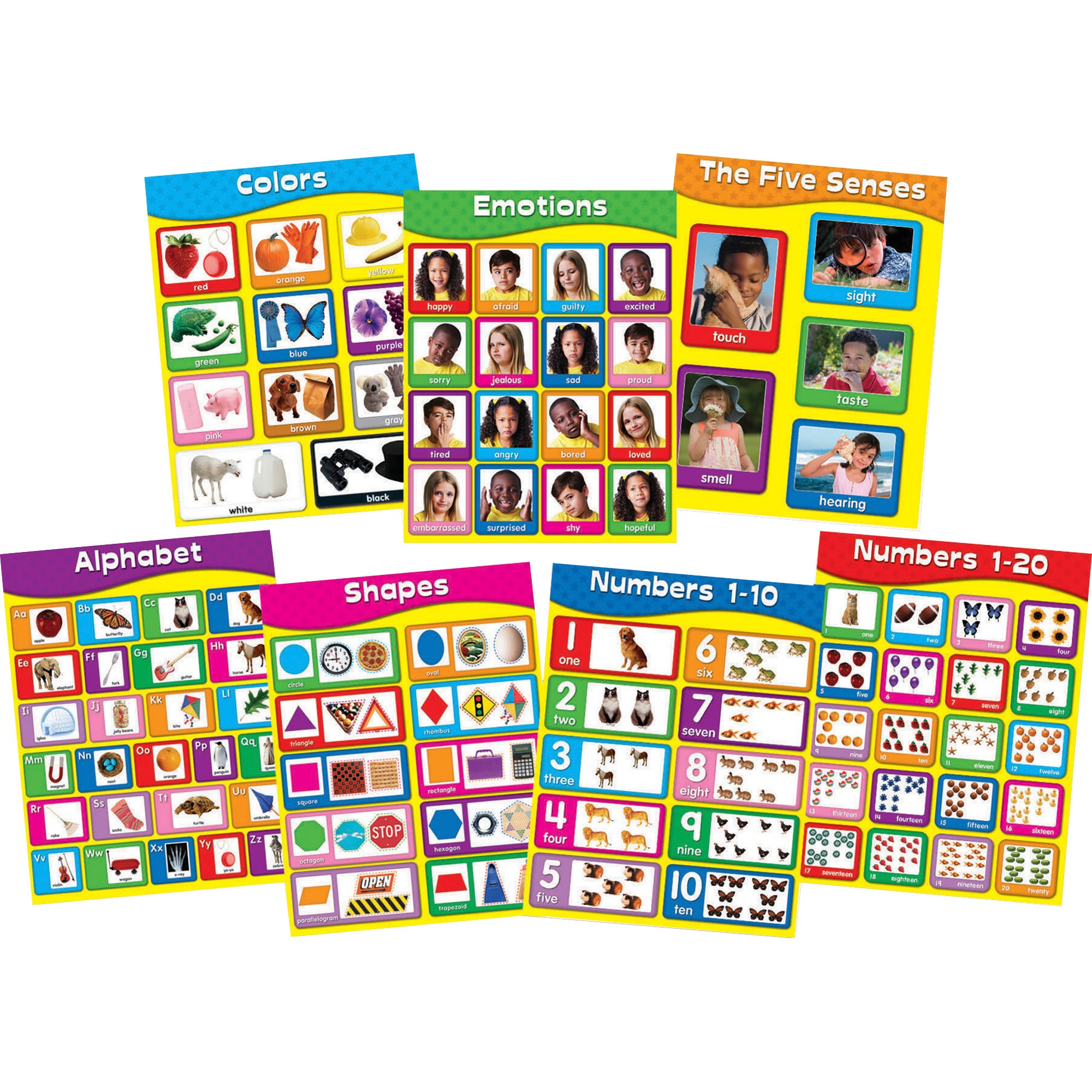 "Carson-Dellosa Publishing Chartlet Set, Early Learning, 17"" x 22"", 1 set"