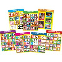 """Carson-Dellosa Publishing Chartlet Set, Early Learning, 17"""" x 22"""", 1 set"""