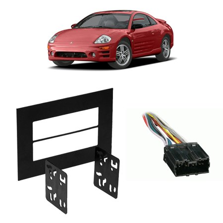 - Fits Mitsubishi Eclipse 95-05 Double DIN Harness Radio Install Dash Kit
