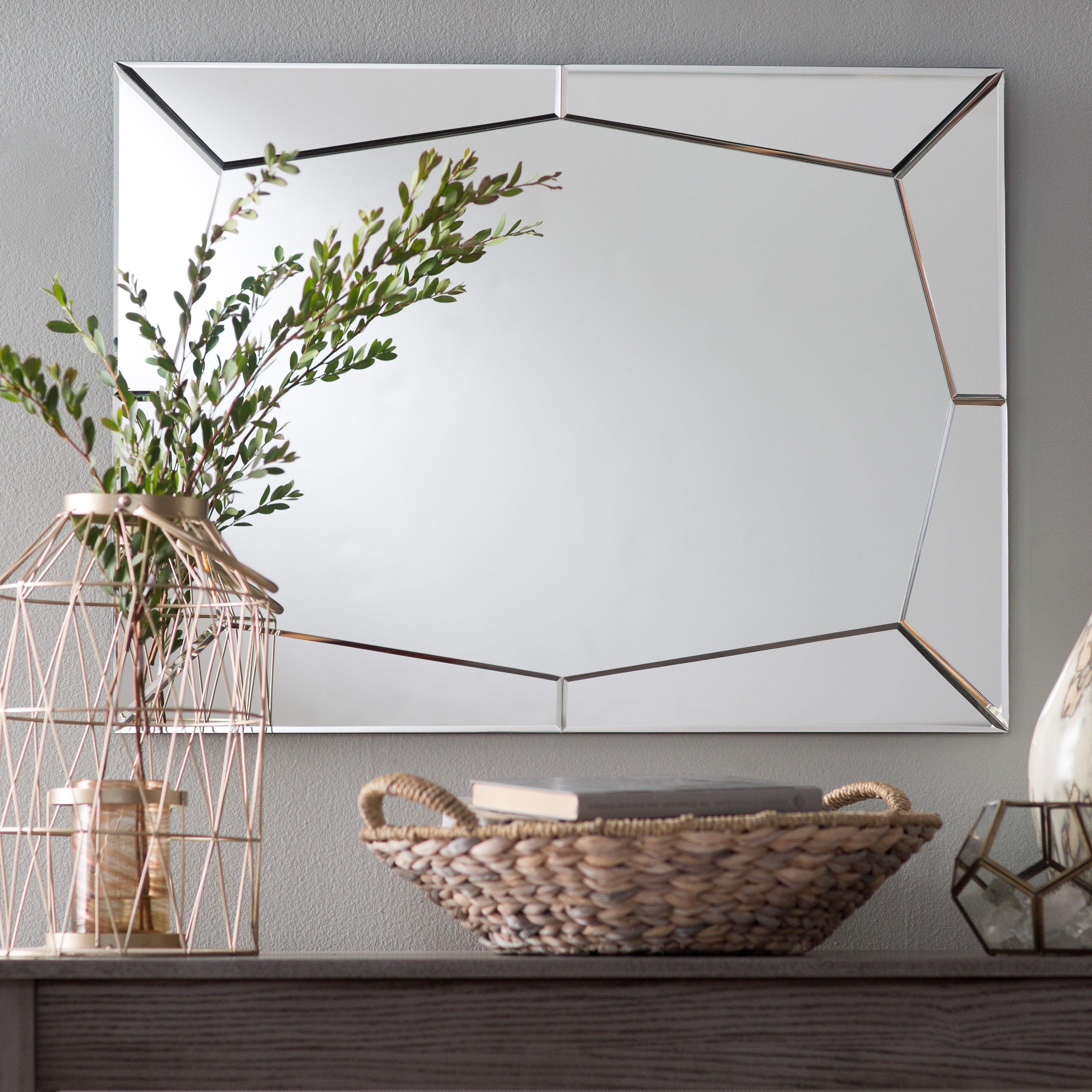 Decor Wonderland Carstadt Modern Bathroom Mirror 23.6W x 31.5H in. by