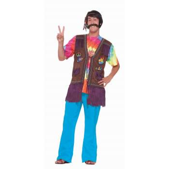 HIPPIE PEACE VEST (Hippie Outfits For Men)