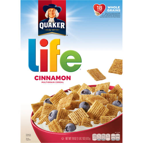 Quaker Life Cinnamon Cereal 18 Ounce Paper Box