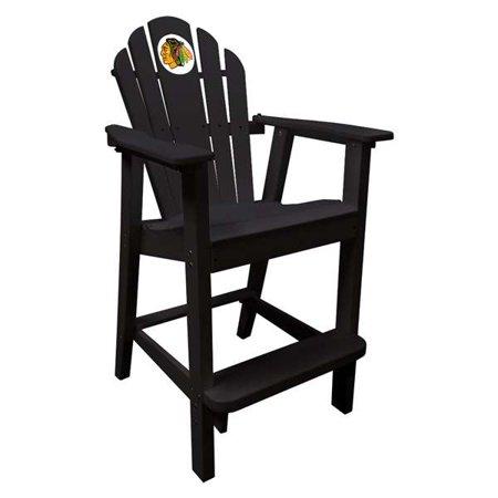 CHICAGO BLACKHAWKS Black Pub Captians Chair ()