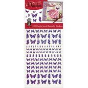 Dazzles Stickers-Jewel Butterflies-Purple