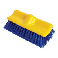 Rubbermaid Commercial Bi-Level Deck Scrub Brush, Polypropylene Fibers, 10 Plastic Block, Tapered Hole -RCP6337BLU