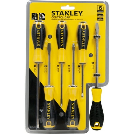 Stanley STHT66597 6pc Control Grip Screwdriver Set